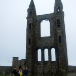 the ruins of the cathedral at St. Andrews, Scotland