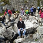 Andy and Teri at the marble quarry