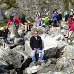 Andy (and friend Teri, just behind) pausing in the marble quarry