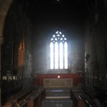 the choir and altar in the Abbey Church