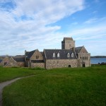Iona Abbey from the shore