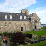 the gardens in front of Iona Abbey