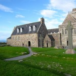 St. Johns and St. Martins crosses in front of Iona Abbey