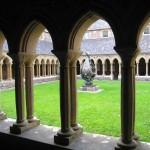 the cloisters at Iona Abbey