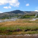 hot springs in the Icelandic countryside