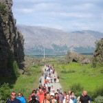 crowds at ingvellir National Park
