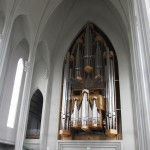the organ at Hallgrímskirkja